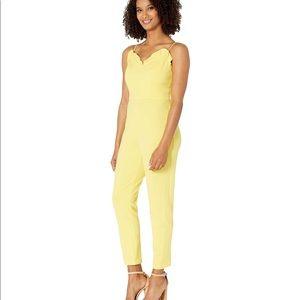 Adrianna Papell Micro Ruffled yellow Jumpsuit